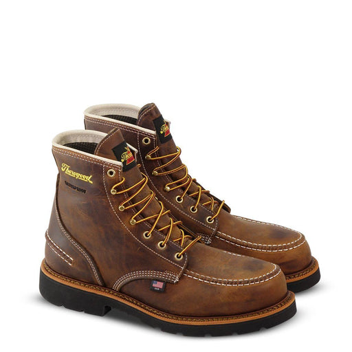 "Thorogood Men's - 1957 Series Crazyhorse 6"" Waterproof Moc - Steel toe MENS LACEWATRPROOFSAFETY TOE WEINBRENNER SHOE CO. INC"