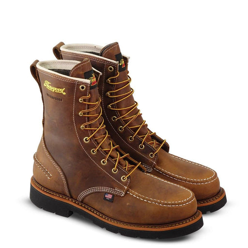 "Thorogood Men's - 1957 Series Crazyhorse 8"" Waterproof Moc - Steel toe MENS LACEWATRPROOFSAFETY TOE WEINBRENNER SHOE CO. INC"