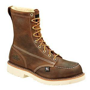 "Thorogood Men's 8"" Moc Toe – Round Safety Toe MENS BOOTLACE STEEL-TOE WEINBRENNER SHOE CO. INC"