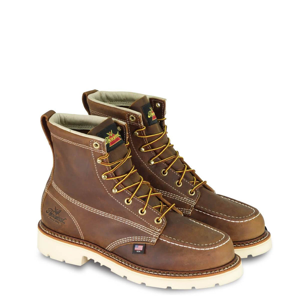 "Thorogood Men's - EH 6"" Trail Crazyhorse Moc - Steel Toe MENS BOOTLACE STEEL-TOE WEINBRENNER SHOE CO. INC"