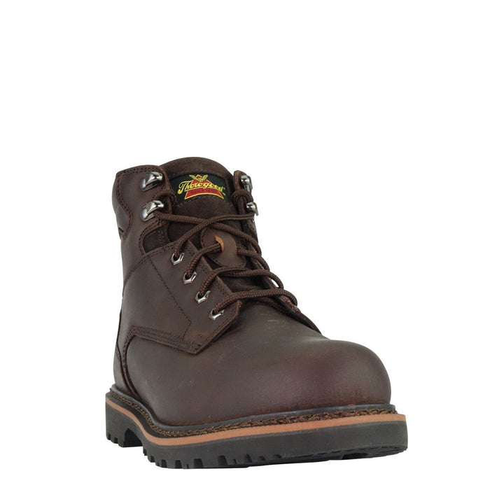 "Thorogood Men's - V-Series 6"" Brown - Steel toe MENS BOOTLACE STEEL-TOE WEINBRENNER SHOE CO. INC"