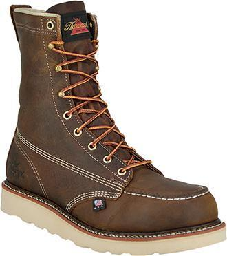 "Thorogood® Men's 8"" Moc Toe - Round Non-Safety Toe MENS BOOTLACE WORKNON-SAFETY WEINBRENNER SHOE CO. INC"