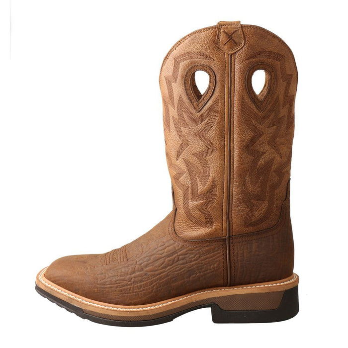 "Twisted X Men's - 12"" Waterproof Western Work Boot - Square Toe MENS WORKSQ T NON SAFETYWTRP TWISTED X BOOTS"