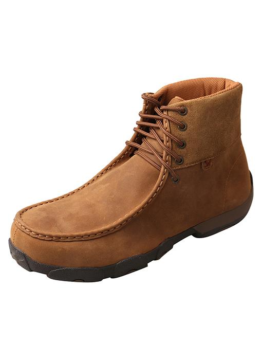 "Twisted X Men's - 6"" Chukka Driving Moc - Alloy toe MENS BOOTLACE COMPSAFETY TOE TWISTED X BOOTS"