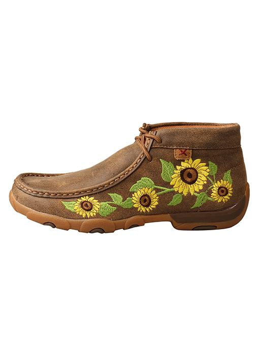 Twisted X Women's - Sunflower Chukka Driving Moc WOMENS BOOT MOCCASIN TWISTED X BOOTS