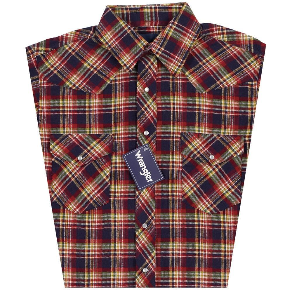 Wrangler Men's Lightweight Western Flannel Long Sleeve - Plaid ME.AP.SHIRT L.S.-FLANNEL VF JEANSWEAR, INC.