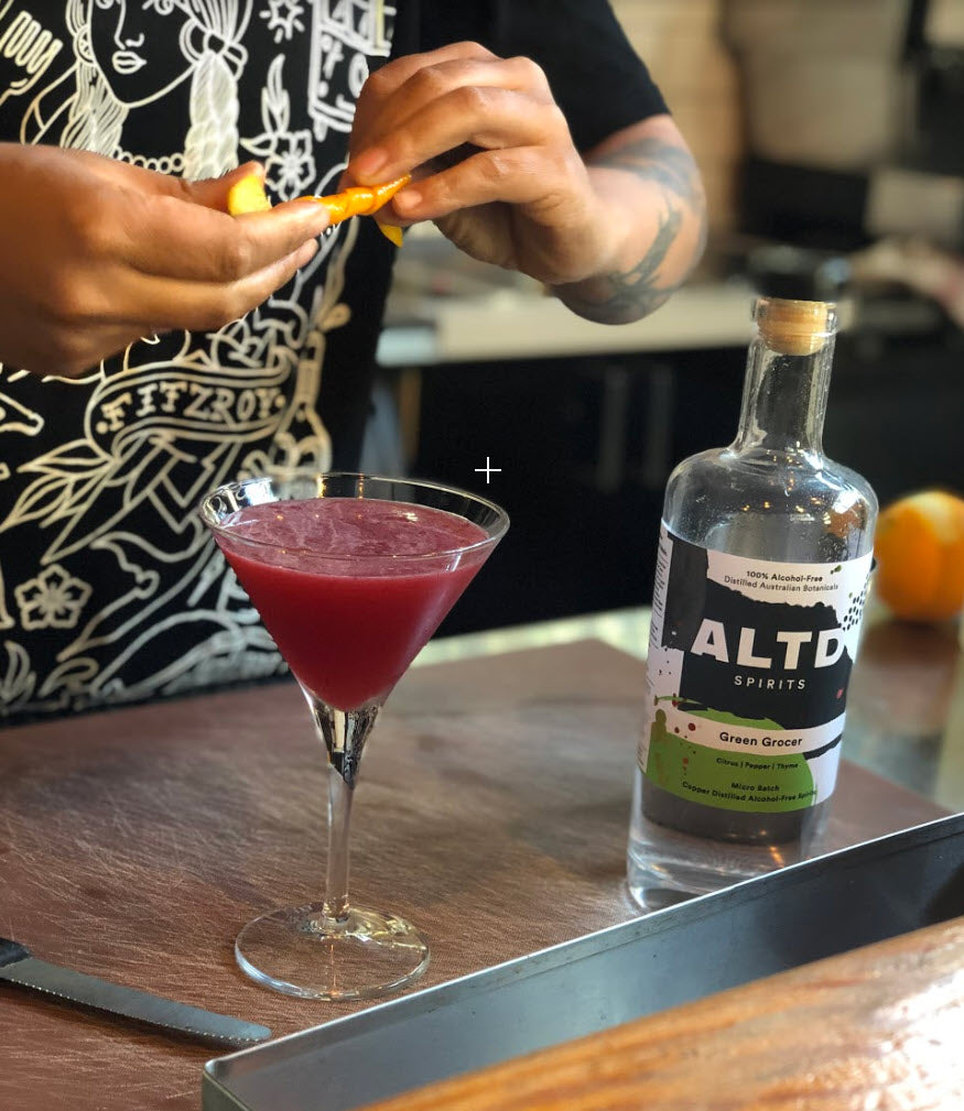 ALTD Non-alcoholic Rhubarb Cocktail
