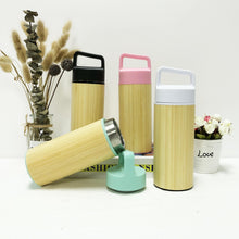 Load image into Gallery viewer, Portable Lid Bamboo Tea Thermo