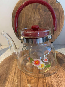 Flower tea pot with infuser- New item available in three sizes