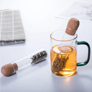 Pyrex Glass Tube Shape Tea Filter