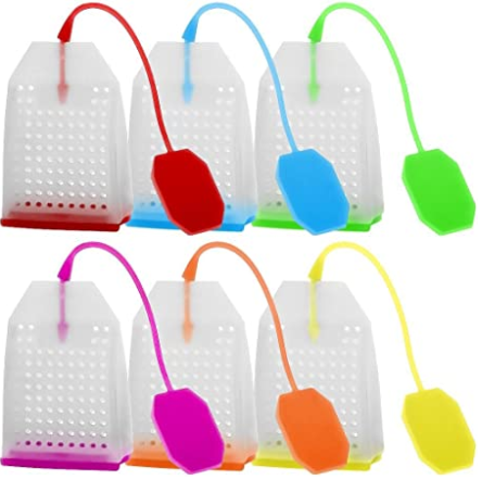 Silicone Tea InfUSer, Finegood ReUSable Safe Loose Leaf Tea Bags Strainer Filter With Six Colors