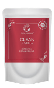 Clean Eating tea Organic Blend (50g) with Infuser of your choice