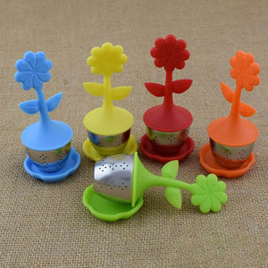 Tea Strainer Tea Infuser Food Grade Flower Shape Silicone