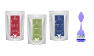 3 Tea Packs (50g) with Infuser of your choice