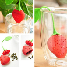 Load image into Gallery viewer, Silicone tea infuser Strawberry Loose Herbal Spice Infuser Filter Diffuser Tea Leaf Strainer Kitchen Tea set Supplies
