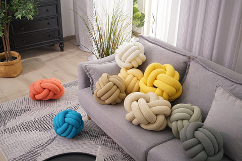 knot pillow living room