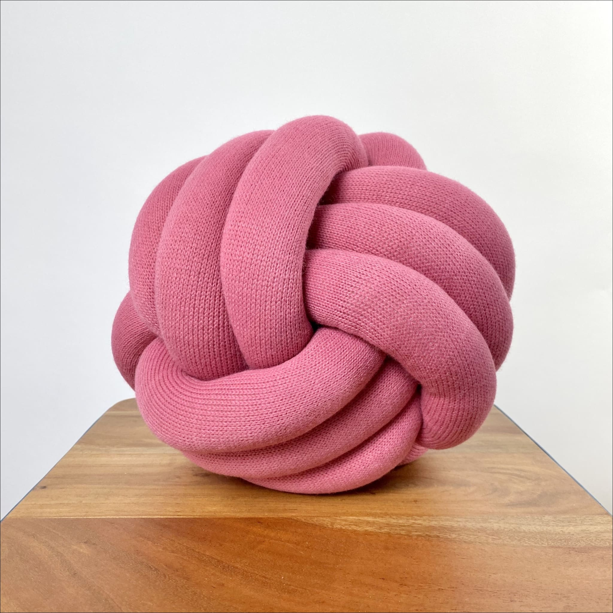The Knot Pillow Dirty Pink Round Knot Pillow