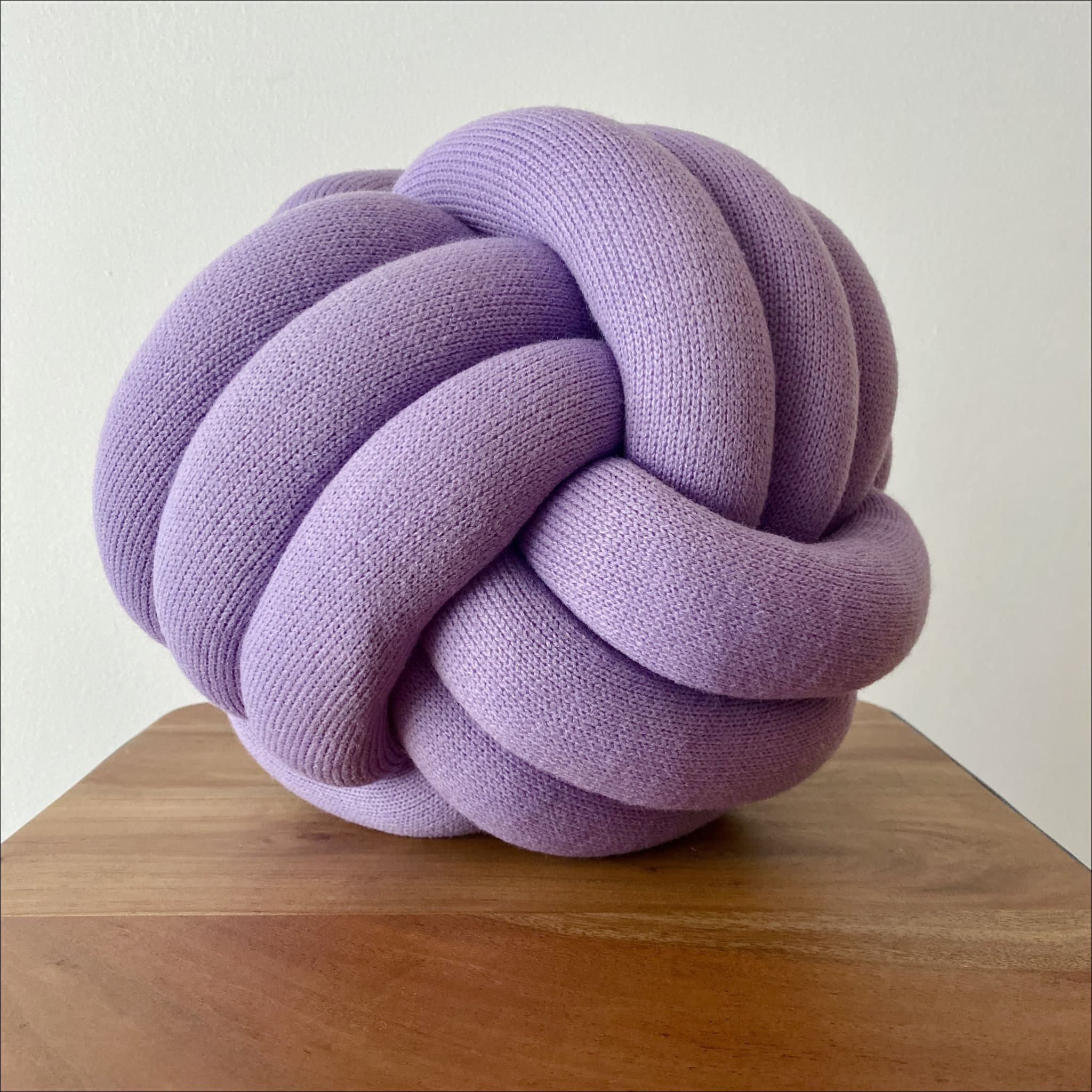 The Knot Pillow Purple Round Knot Pillow