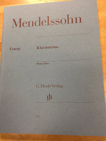 Mendelssohn Piano Trios op49 and op 66