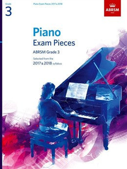 ABRSM Piano Exam Pieces: 2017-2018 (Grade 3) - Book Only