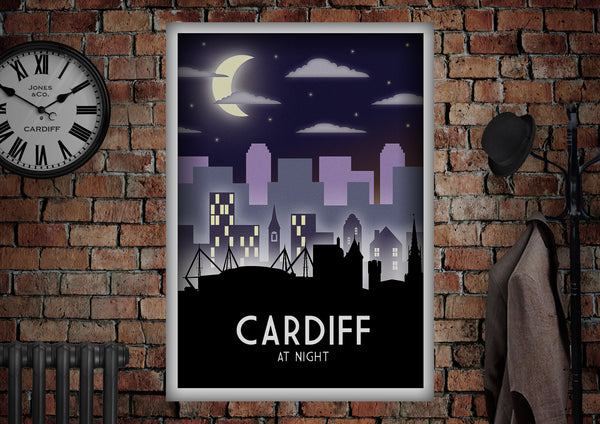 Cardiff Art Deco Style Poster - Made by Craig