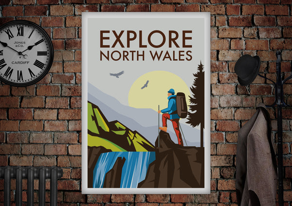 Explore North Wales Poster - Made by Craig