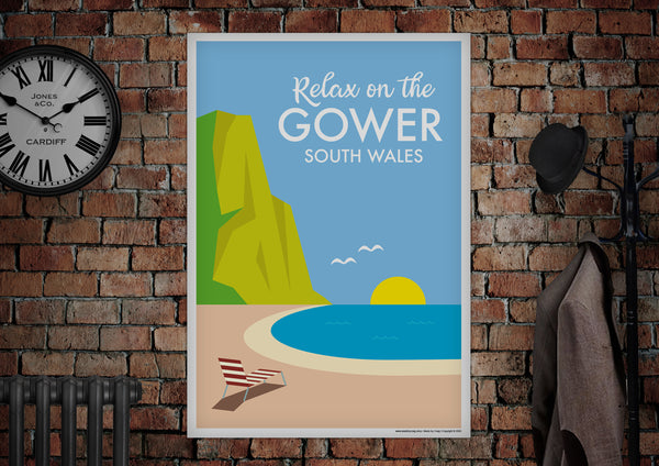 GOWER South Wales Poster