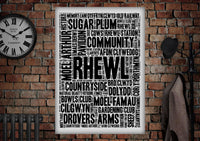Rhewl Poster - Made by Craig