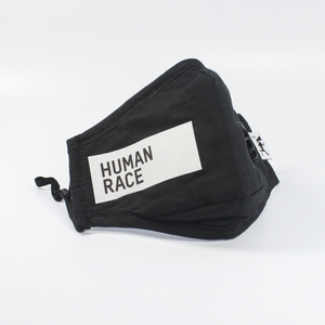 "Handmade ""Human Race"" 2.5 protective mask in Black + filters(2)"