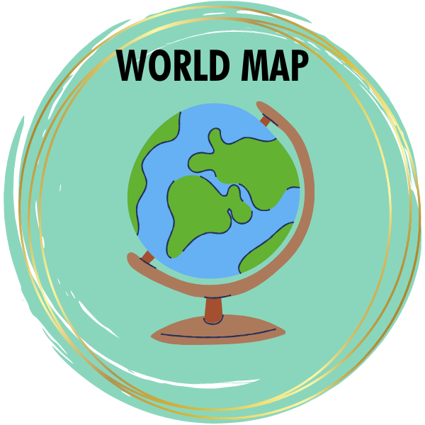 World Map Diamond Painting Kits