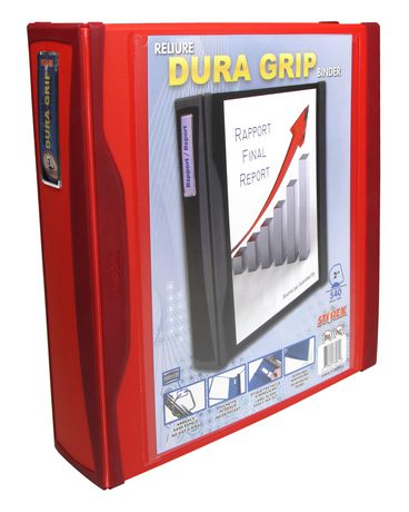 "Duragrip Heavy Duty View Binder+ Rubberized Grip /2""inch/4 Colors (4 units/pack)"