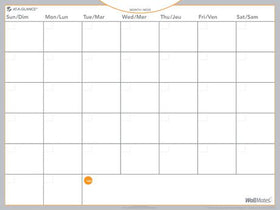 Self-adhesive dry erase Monthly Calendar