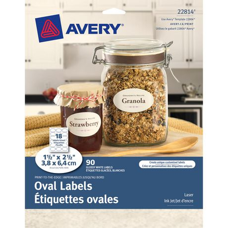 Print-to-the-Edge Oval Labels