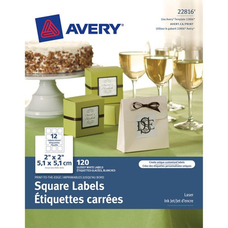Print-to-the-Edge Square Labels