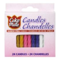 Cake Mate Rainbow Spiral Candles