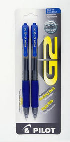 Retractable Gel Pen Fine - Blue