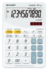 SHARP ELM332BWH Desktop Calculator