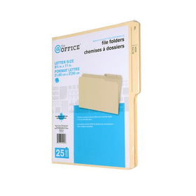 Manila Color Letter Size Reversible File Folders