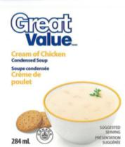 Great Value Cream of Chicken Condensed Soup