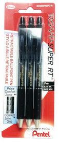 Retractable Super Black Ballpoint Pens