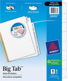 Big Tab™ Write-On Dividers