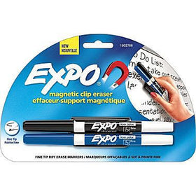 Magnetic Clip Eraser with 2 Fine Markers