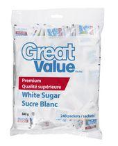 Great Value White Sugar Packets
