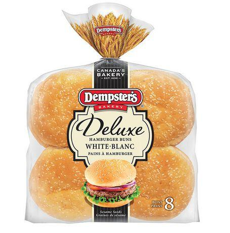 Dempster's® Deluxe White Hamburger Buns