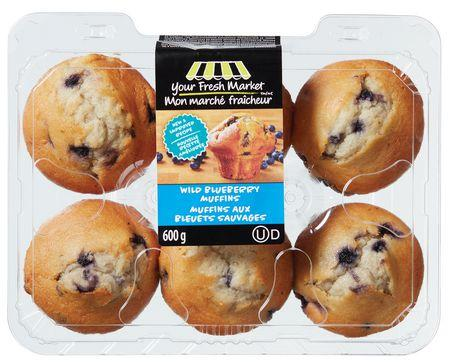 Your Fresh Market Wild Blueberry Muffins