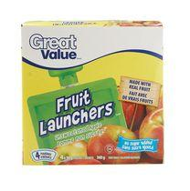 Great Value Unsweetened Apple Fruit Launchers Fruit Snacks