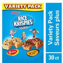 Kellogg's Rice Krispies Square Bars, Variety Pack, 30 count, 702g