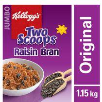 Kellogg's Two Scoops Raisin Bran Cereal Jumbo, 1.15kg