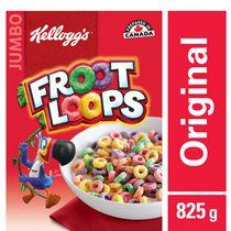 Kellogg's Froot Loops Cereal 825g, Jumbo Size