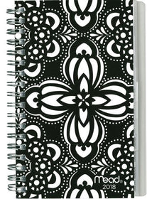 Black & White Medallion W/M Pocket Planner